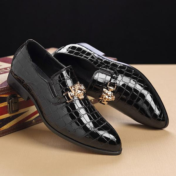 Shoes - Fashion Crocodile Pattern Breathable Men's Dress Shoes