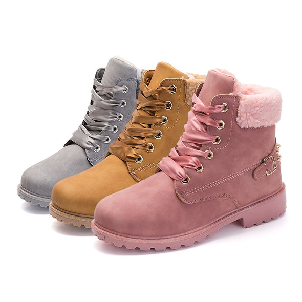 New Lace up British Style Women Boot