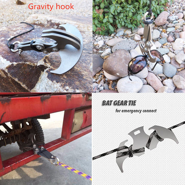 Stainless Steel High Performance Survival Folding Grappling Hook Climbing Claw Outdoor Carabiner