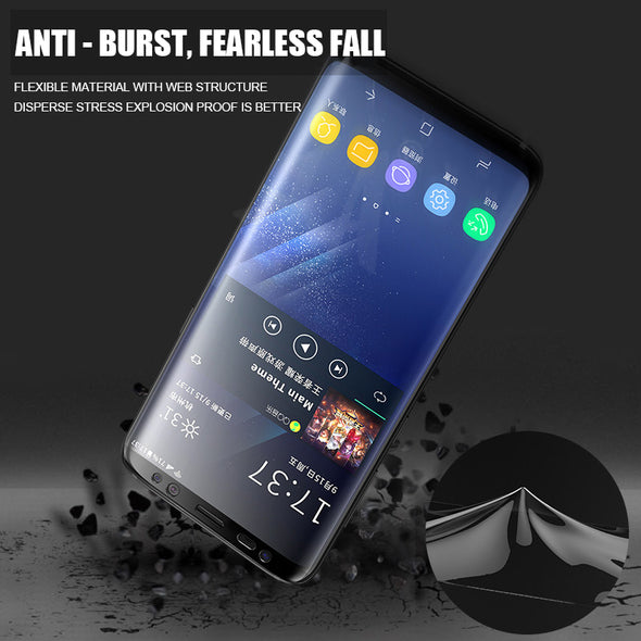 Soft Full Curved Screen Protector Film For Samsung  (Not Glass)