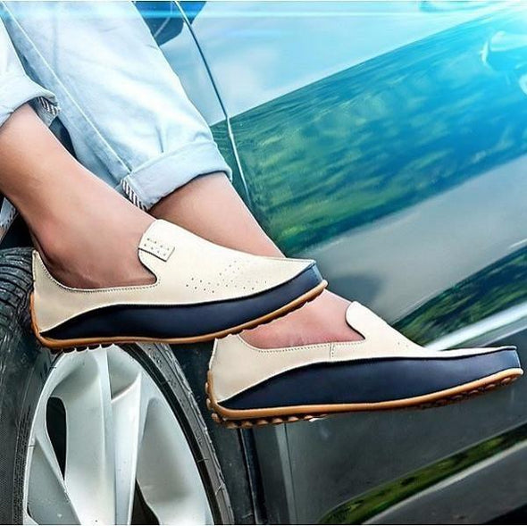 Shoes - Fashion PU Casual Loafers Driving Shoes