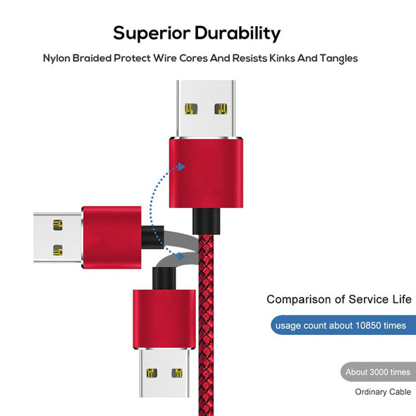 High Quality  360 Degree Magnetic LED Type-C Braided Data Charging Cable for Samsung