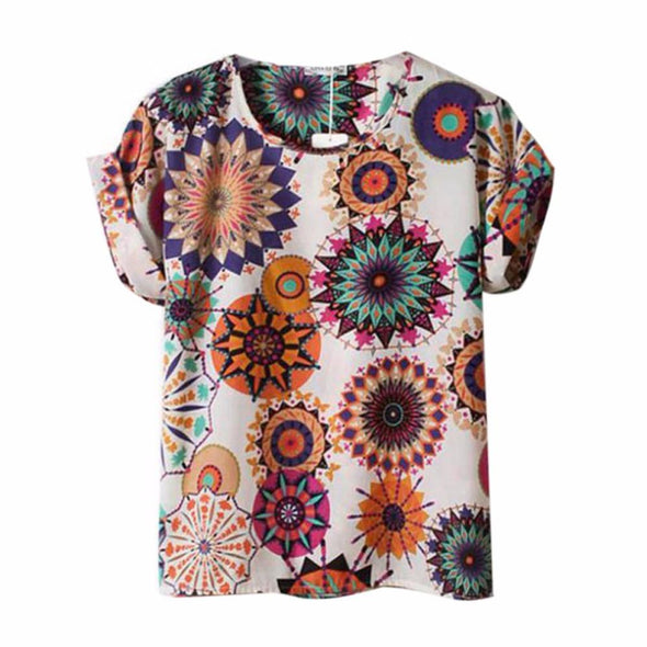 Fashion Colorful Female T-Shirts