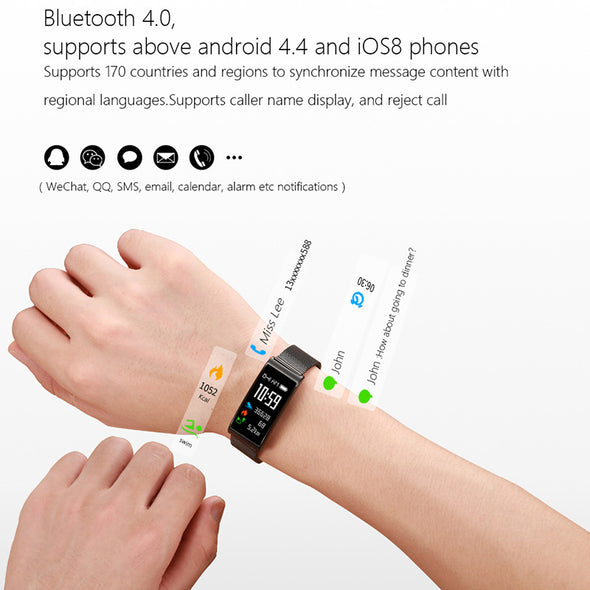 IP68 Waterproof  Heart Rate Smart Bracelet