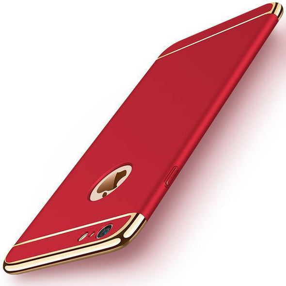 Phone Case - Luxury Removable 3 In 1 Hard Case For Iphone