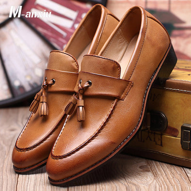 Luxury Pointed Toe Tassel Italian Dress Shoe