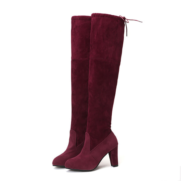 Suede  High Heels Over The Knee Boots