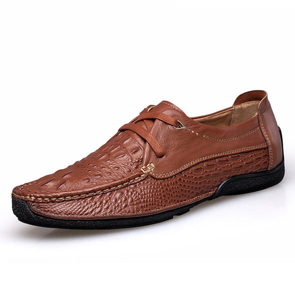 Alligator Fashion Casual Men Shoes