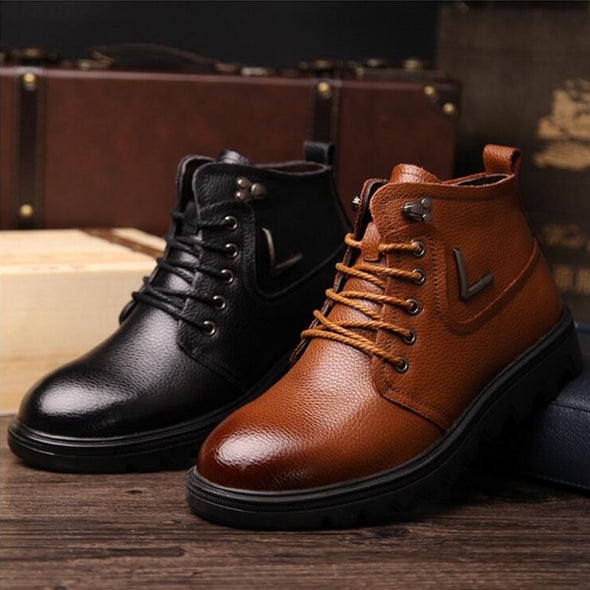 New style Handmade Warm Men Winter Boots