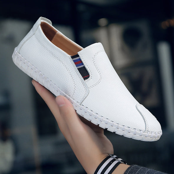 Big Size  Men's Genuine Leather Handmade Driving Shoes