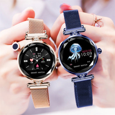 Fashion Heart Rate Blood Pressure Fitness Pedometer  Physiological Cycle Waterproof Smartwatch