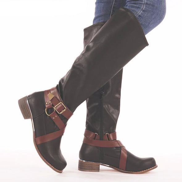 Vintage Rome Style Knee-High Ankle Boot