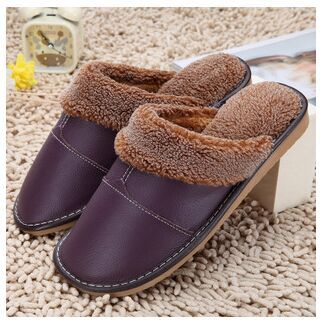 Plus Size Genuine Warm Winter Lovers Home Slippers