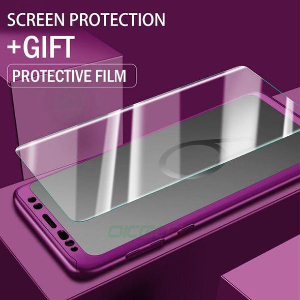 New 360 Full Protective Phone Cases For Samsung With Free Screen Protector( Buy 2 Get 10% off, 4 Get 20% off)