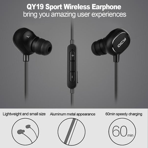 QCY QY19 Light Wireless Bluetooth Stereo In-Ear Earphone