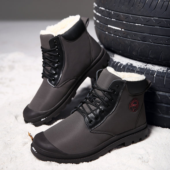 Top Quality Genuine Leather Casual Snow Warm Boots