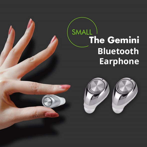 Earphone - Super Mini Double Ear Wireless Stereo Earphones With Mic