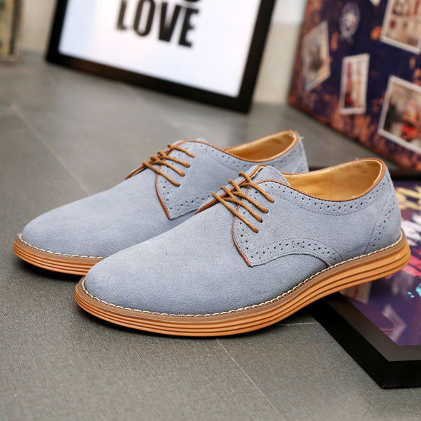 Fashion Of New Leather Shoes With Round Head