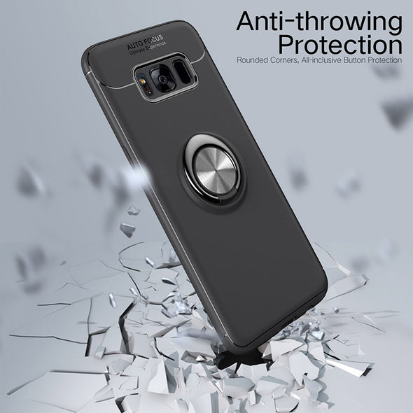 Magnetic Bracket Finger Ring TPU Case For Samsung