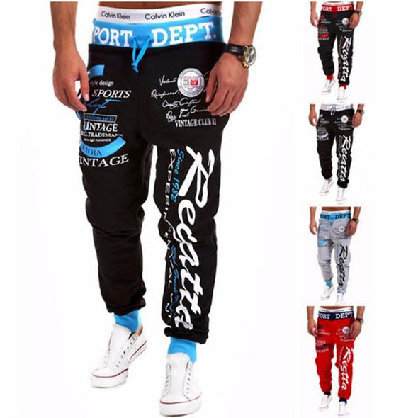 Pants - Mens Letter Printing Baggy Pants