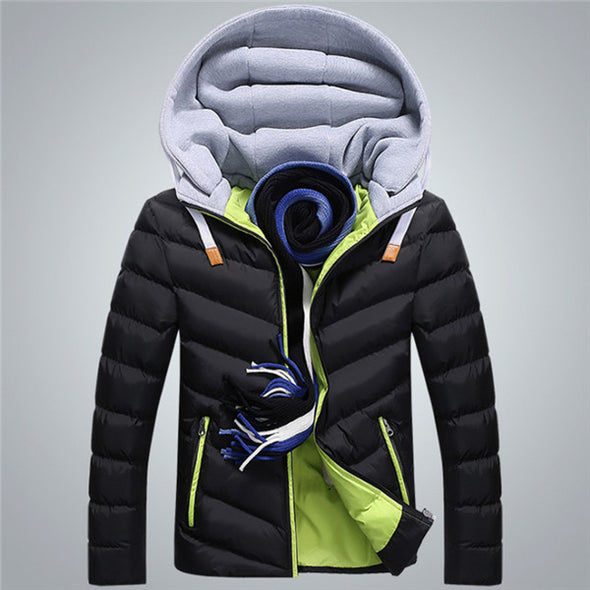 Fashion Hat Detachable Warm Coat Cotton-Padded Outwear