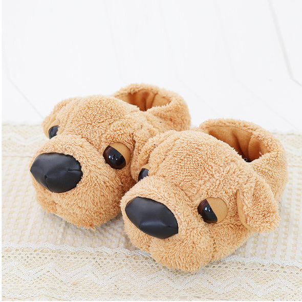 Fashion Cartoon Dog Lovers Warm Indoor Slippers