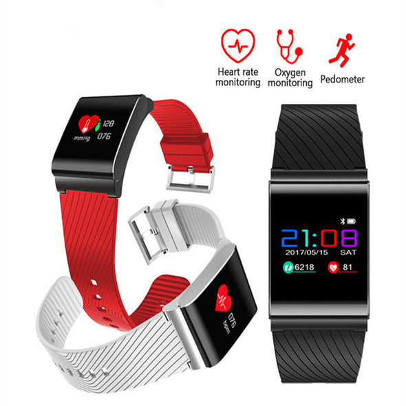 Heart Rate Monitor Pedometer Fitness Blood Pressure Smart Wristband