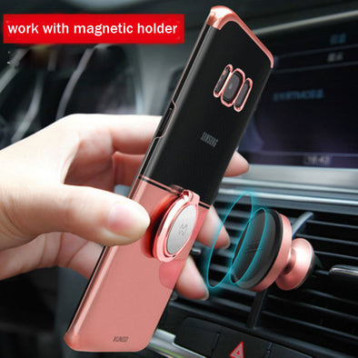 Luxury Magnetic Case with Ring Holder( Buy 2 Get 10% off, 4 Get 20% off)