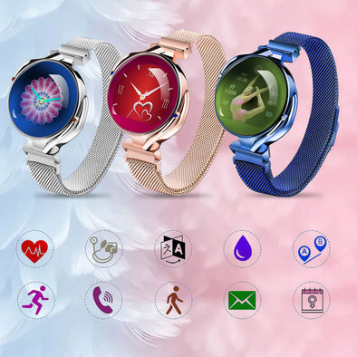 Women Luxury Heart Rate Monitor Blood Pressure Watch Fitness Tracker Sports Smart Bracelet