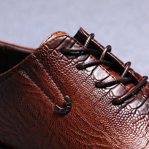 Handsome Comfortable Embossed Pu  Oxfords Big Size
