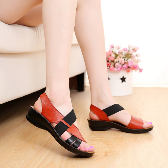 Summer New Woman Soft bottom middle-aged Sandals