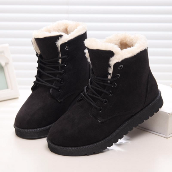 Women's Winter Suede Plush Snow Ankle Boots
