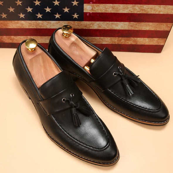 Luxury brand men's pointed toe dress shoes