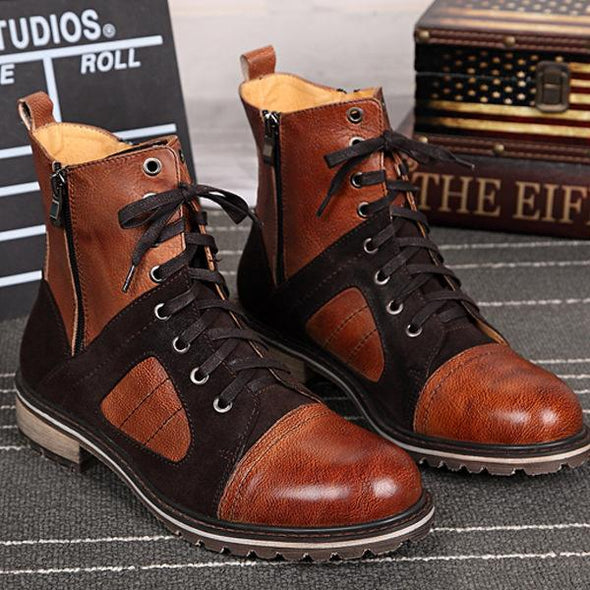 High Quality Men Roman Style Boots Big Size
