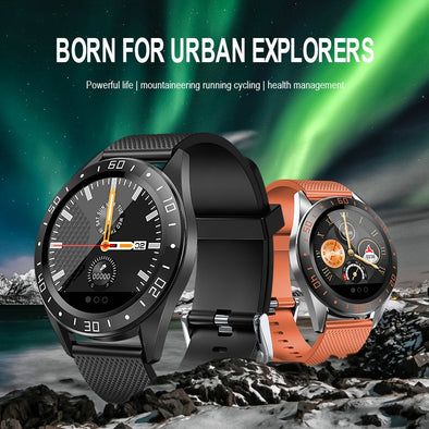 Men Heart Rate Fitness Tracker Stopwatch Smartwatch For Android iOS