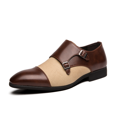 Fashion 2020 Canvas Business Genuine Leather Shoes