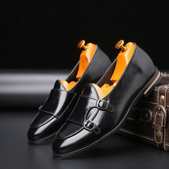 2020 Newest Men Classic Business Flat Shoes