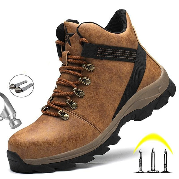 Newest Male Work Safety Steel Toe Shoes