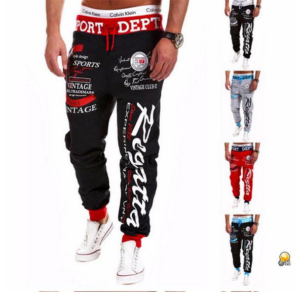 Mens Letter Printing Baggy Pants