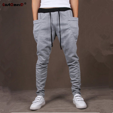 Unique Pocket Mens Joggers Cargo Men Pants Sweatpants Harem Pants