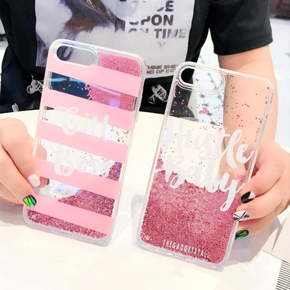 Liquid Dynamic Glitter Case For iPhone