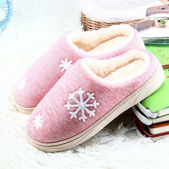 Women Winter Warm Indoor Plush Size Cotton Slippers