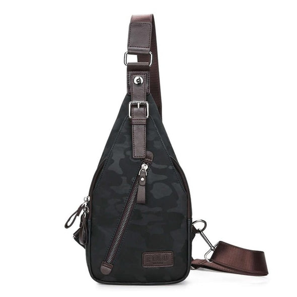 Theftproof Magnetic Button Mens Chest Bags