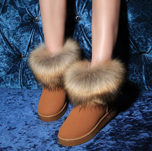 New Arrival Fashion Fox  Non-slip Cotton Short Boots