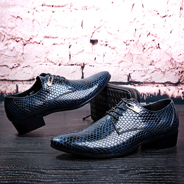 New Imitate Snake Leather Men Oxford Shoes