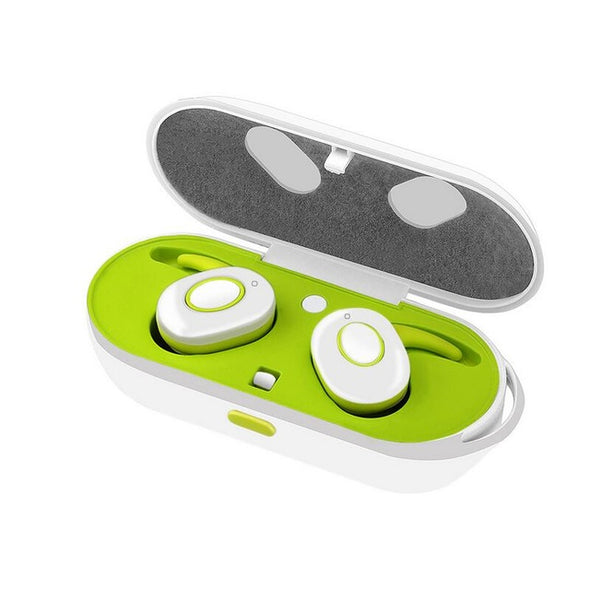 Sweat Proof  Portable Bluetooth headphone with charging box