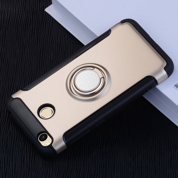 Magnetic Suction Phone Case For Xiaomi Redmi 4X mi4x 4A 3S Luxury Ring Holder Cases