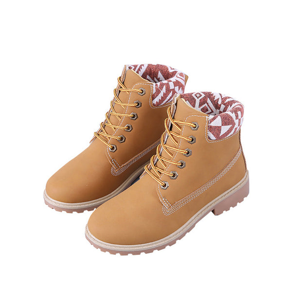 New Fashion Retro Ladies Lace Up Boots Martin Boots