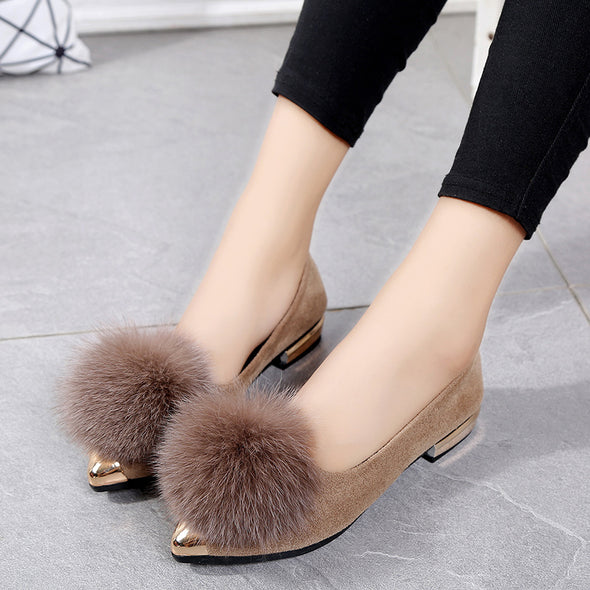 Women Ball  Slip on Flat Pointed Toe Shoes