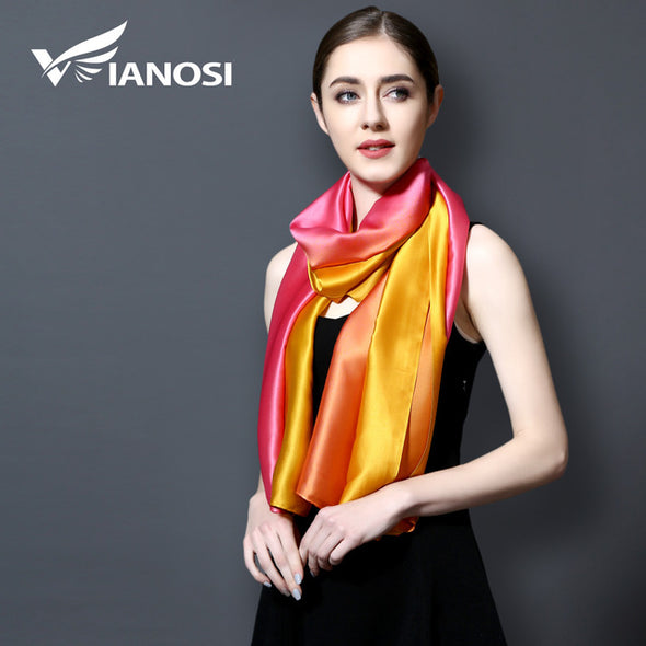 Luxury Beautiful Gradient Color Silk Scarves